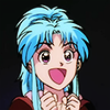 piplupcommander: botan from yyh with a very happy face (botan yay)