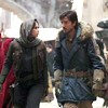 anghraine: jyn and cassian walking side by side in the first phase of their mission (jyn and cassian [jedha])
