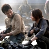 anghraine: cassian andor and jyn erso exchanging a glance (cassian and jyn [glance])