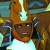 crimsonlight: (horsing around)