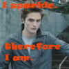 "nineveh_uk: Photo of Edward Cullen from Twilight with the text ""I sparkle, therefore I am"" (Sparkly vampire)"