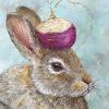 kalloway: A rabbit with a turnip on its head (Bunnyturnip)