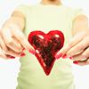 teigh_corvus: Woman offering a sequined heart ([Misc.] [Love] Heart!)
