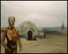 browncoat2x2: Painting of C-3PO on Tattooine (FF Hee Hee)