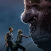 jedibuttercup: Two humans touching Kong's nose (king kong)