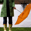watershoes: (girl with orange umbrella)