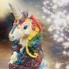 pensnest: unicorn cake, fabulously iced in rainbow colours (rainbow unicorn)