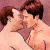 omg_wtf_yeah: SGA, McKay and Sheppard kiss fanart by Crysothemis (SGA - M&S near kiss)