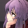 mikogalatea: Shinoa from Seraph of the End, resting her chin in the palm of one hand, apparently deep in thought. ([Seraph] Shinoa; contemplative)