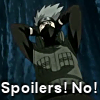 "tephra: Kakashi from Naruto with his hands over his ears and appearing to be yelling ""Spoilers! No!"" (No Spoilers)"