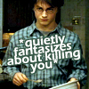 "luckytohaveher: made by  <lj user=""iconzicons""> (Harry Potter - Harry wants you dead)"