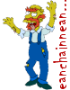 triadruid: Groundskeeper Willie from 'The Simpsons', as a zombie  (zombies, brains, Simpsons)