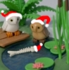 owlfish: (Santahatted Owls and fish)