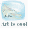 feng_shui_house: drawing polar bear text art is cool (Art cool)