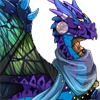 elf: Purple and blue dragon with iridescent wings (FR Dragon)