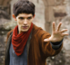 farkenshnoffingottom: Photo of Colin Morgan as Merlin from BBC's Merlin. He is holding out his hand as if casting a spell. (merlin)