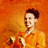 turlough: Lena Horne in orange jacket looking gleefully happy, 1950s ((other) happiness)