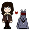 sisterofbloomerjunior: Sarah Jane Smith and K9 from the Tom Baker Doctor era (Who: Sarah Jane and K9)