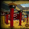 minoanmiss: Red pillars inside a Minoan palace (Palace Pillars)