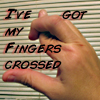 feng_shui_house: hand with crossed fingers text I've got my fingers crossed (Fingers crossed)