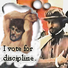 feng_shui_house: Doughty  with Leonard text I vote for discipline (Doughty Discipline)