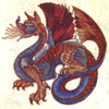 espresso_addict: Winged dragon in slate blue & red brown hues (dragon)