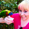 xcarex: Photo of me, with lorikeets. (me: lorikeets)