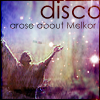 "elleth: Melkor raising his arms before a starry background, with the text ""Disco arose about Melkor"" (Silm: Disco Melkor)"