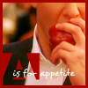 runpunkrun: lex luthor biting into an apple, text: A is for appetite (a is for appetite)