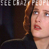 runpunkrun: dana scully looking worried, text: I see crazy people (scully sees crazy people)