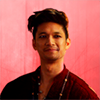 nightscale: Pink bg red shirt (Shadowhunters: Magnus Bane)