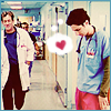 runpunkrun: j.d. looking down at his pink scrub pants and hearting them while dr. cox walks by (they make me feel pretty)