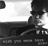 runpunkrun: fox mulder behind the wheel of a car, text: wish you were here xoxo (wish you were here)