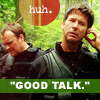 "runpunkrun: john sheppard and rodney mckay looking awkward, text: ""Good talk."" (men)"