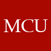 "morgynleri: red background with white letters ""MCU"" (mcu)"
