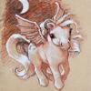 sunnymodffa: Belladona, the evening vampire pony seen in the moonlight (Belladona in the moonlight)