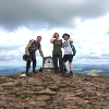 purplecat: The family on top of Pen Y Fan (General:Walking)