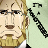 skygiants: Hohenheim from Fullmetal Alchemist with tears streaming down his cheeks; text 'I'm a monsteeeer' (man of constant sorrow)