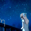 skygiants: Eve from Baccano! looking up at a starry sky (little soul big world)
