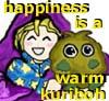 lucidscreamer: chibi!Yugi and plushie!Kuriboh are BFFs (happiness is a warm kuriboh)