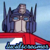 lucidscreamer: G1 Optimus Prime looking into the camera (Optimus Prime personalized)