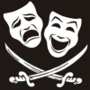 machiavellijr: Tragedy and comedy masks with crossed cutlasses (piracy, qvp)
