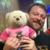 noahgibbs: Me and my teddy bear at Karaoke after a day of RubyKaigi in HIroshima in 2017 (Default)