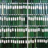 rosefox: Green books on library shelves. (0)
