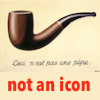 "jesse_the_k: The smoking pipe from Magritte's ""Treachery of Images"" captioned ""not an icon"" (surrealism here)"