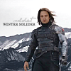 "belle_meri: Image of Bucky Barnes as the Winter Soldier against a mountain background captioned ""Soldat. Winter Soldier."" (Soldat)"
