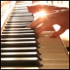 missroserose: Backlit hands playing piano. (A Little Light Piano)