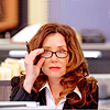 sarken: sharon in the bullpen pushing up her glasses ([the closer] oh that woman)