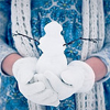 dangerous_47: Stock pic. Female hands holding a mini-snowman. (Default)