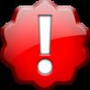 jesse_the_k: Large exclamation point inside shiny red ruffled circle (big bang)